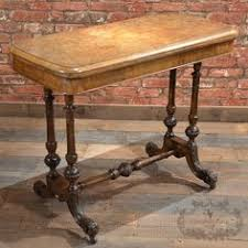 fold away card table victorian burr walnut fold over card table c 1840 victorian and