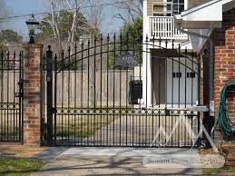 iron fence gate c arch summit fence south