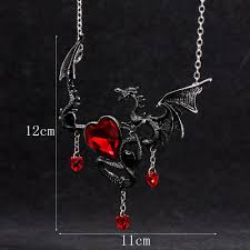 red necklace women images European necklace for women men gothic vintage red heart dragon jpg
