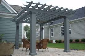 Ebay Carport Home Traditional Roof Modena Fiberglass Pergola Kit Square Column