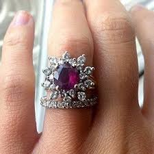 colored gemstones rings images 15 gemstone engagement rings for a pop of color mywedding jpg