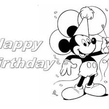 mickey mouse and happy birthday presents coloring page color luna