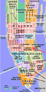 map of nyc areas manhattan area map major tourist attractions maps