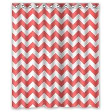 Coral And Grey Shower Curtain Fun Coral Chevron Shower Curtain Designs