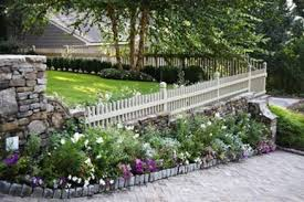rustic flower beds with rocks in front of house ideas decomg