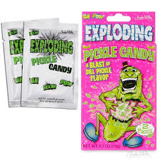 pickle candy accoutrements exploding pickle flavored candy