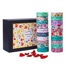 Decorative Journals Amazon Com Washi Masking Tape Set 20 Rolls 32 8 Ft Decorative