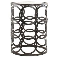 Metal Accent Table Table Handsome Round Metal Side Table And Wood Nesting Tables