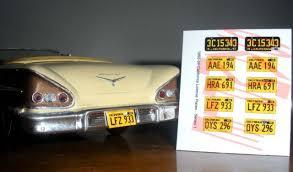 california model car 1955 1959 california model car license plates for 1 25 scale model