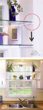 Best  Glass Shelves Ideas On Pinterest Floating Glass Shelves - Glass shelves for kitchen cabinets