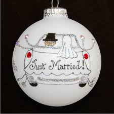 personalized wedding ornament celebration time just married personalized christmas