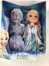 disney frozen northern lights elsa music and light up dress disney frozen northern lights elsa doll 40 phrases colorful lights