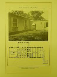 floor plan old elm club fort sheridan il 1914 lithograph
