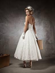 picture of elegant tea length wedding dresses