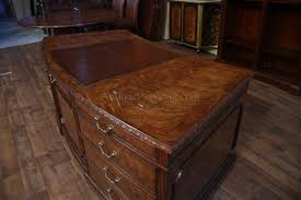 kidney shaped executive desk leather top mahogany executive desk fine antique reproducti