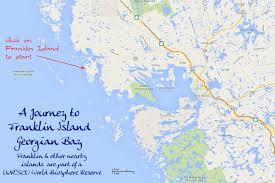 Southwest Canada Map by Franklin Island Georgian Bay Ontario Canada By Ray Rasmussen