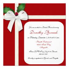 custom bridal shower invitations christmas bridal shower invitations seasonal showers