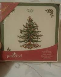 pimpernel spode tree coasters with cork backs set of 6
