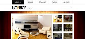 interior enchanting interior design website template web