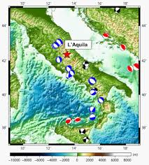 Italy Mountains Map by L U0027aquila Earthquake