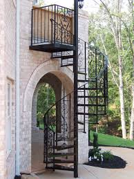 stair endearing home exterior decoration using black iron outdoor