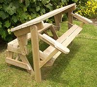 Free Plans For Picnic Table Bench Combo by Folding Bench To Picnic Table Instructions Page 1