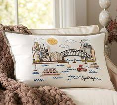 Pottery Barn New York City New York City Embroidered Lumbar Pillow Cover Pottery Barn
