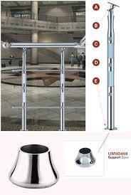 handlauf fã r treppen handlauf zubehör edelstahl balustrade unterstützung bodenplatte