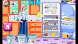 elsa fridge cleaning frozen game movie top baby games for kids