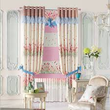 girl bedroom curtains beautiful printed privacy curtain with floral pattern for girls bedroom