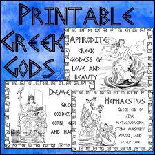 greek gods printables mythology greek and social studies