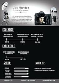 photographer resume template photographer resume template creative photographer resume templates