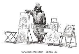 sketch street artist stock vector 583372426 shutterstock