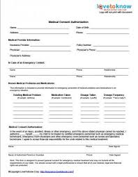 medical release form for minor medical release of liability form