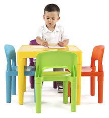 table and chairs plastic amazon com tot tutors kids plastic table and 4 chairs set vibrant