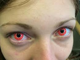 red swirl contact lenses