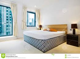 modern double bedroom with king size bed royalty free stock image