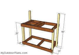 Potting Bench Kits Potting Bench With Sink Plans Myoutdoorplans Free Woodworking