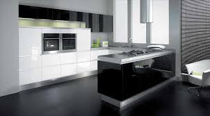 black gloss kitchen design ideas of cool decorations elegant curve