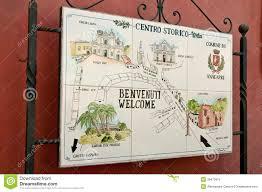 Map Of Amalfi Coast Map Of The Town Of Anacapri Amalfi Coast Stock Photo Image 39472875