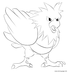 021 spearow pokemon coloring pages printable