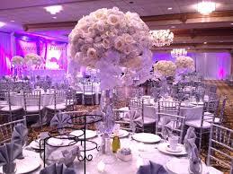 chiavari chairs wedding yasmeena s floral white floral centerpiece silver chiavari