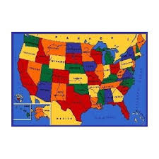 amazon com kids area rug usa map design 7 ft 4 in x 10 ft 4