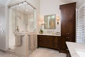 shower doors and enclosures for a traditional bathroom with a dark