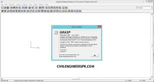 graphical rapid analysis of structures program grasp civil