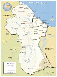 Map Of Countries In South America by Political Map Of Guyana Nations Online Project