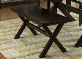 trestle table in rubberwood solids wood and charcoal finish