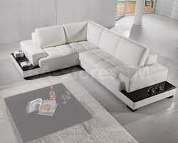 White Leather Sectional Sofa With Chaise Furniture Leather Sectional Couches In Cream Theme For Inspiring
