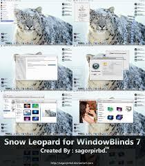snow leopard for windowblind 7 by sagorpirbd on deviantart
