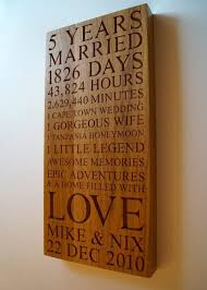 five year wedding anniversary gift personalised wooden gifts makemesomethingspecial